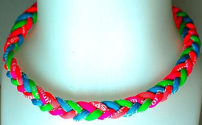 "NEW 20"" Custom 4 Rope Neon Green Light Blue Hot Pink Orange Tornado Necklace"
