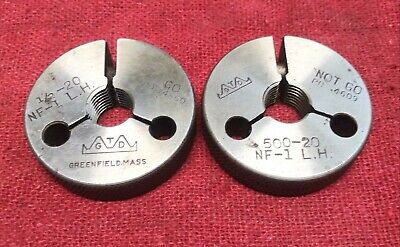 12 20 Nf 1 Left Hand Thread Ring Gages .5 Go No Go P.d.s .4660 .4609 L.h.