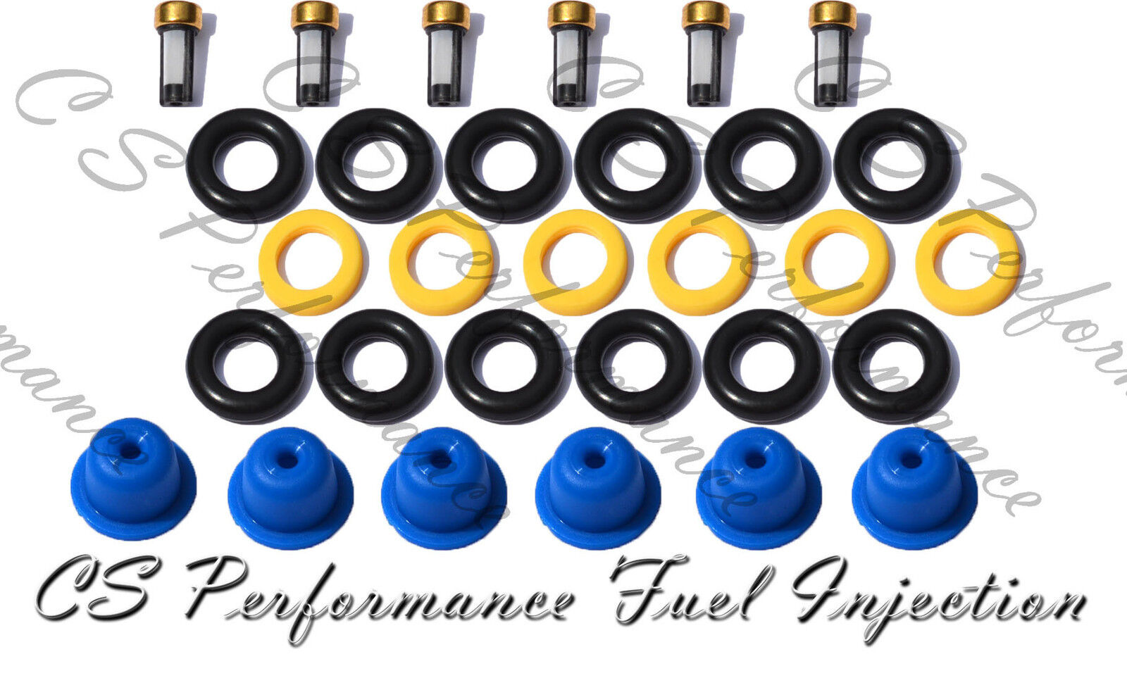 PINTLE CAPS FUEL INJECTOR KIT O-RINGS SPACER FILTER DODGE CHRYSLER 3.8 3.9 V6