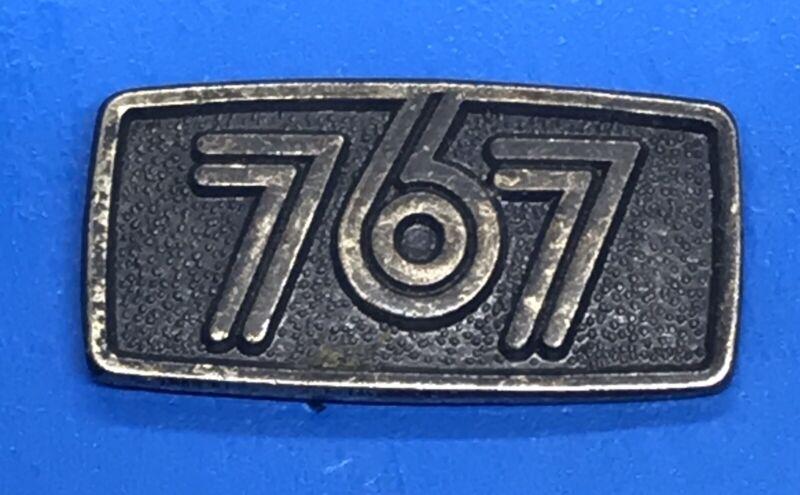 Boeing 767 Black Metal Lapel Pin Back