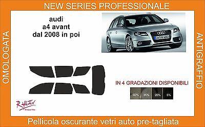 pellicola oscurante vetri pre-tagliata Audi A4 avant dal 2008 in poi comp