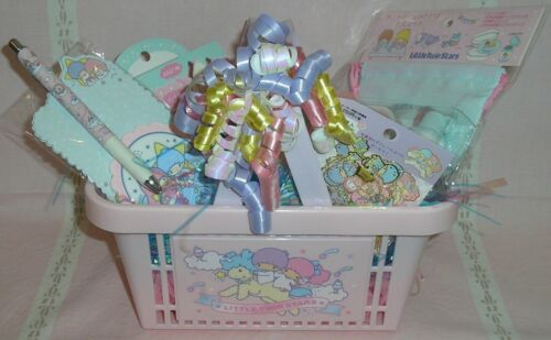 Sanrio Japan CUSTOM Birthday Gift Basket Little Twin Stars Stationary Stamp Clip