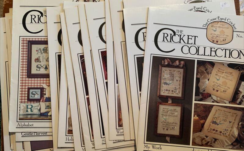 20 Cricket Collection #1 Cross Stitch Charts Leaflets Destash Sampler Lot Alpha