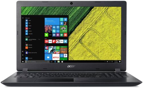 Acer 15.6 Inch HD Intel i3 2GHz 4GB 1TB Windows 10 Laptop - Black