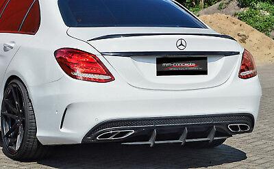 Cup Diffusor Ansatz für Mercedes C Klasse W205 43 AMG Heck Stoßstange ABS INE