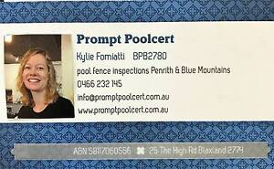 Prompt Poolcert - Pool fence certificate of compliance Blaxland Blue Mountains Preview