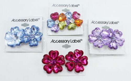 New Wholesale One Dozen ( 12 Pairs ) Colorful Flower Shape Earrings #E1248-12