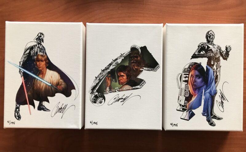Star Wars J Scott Campbell Canvas Print Set 4/195