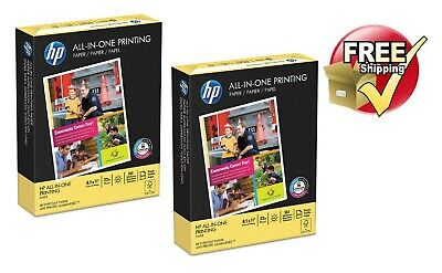 Hp All-in-one Printing Paper 22lb 96 Bright 8 12 X 11 White 500 Sheets Pk 2
