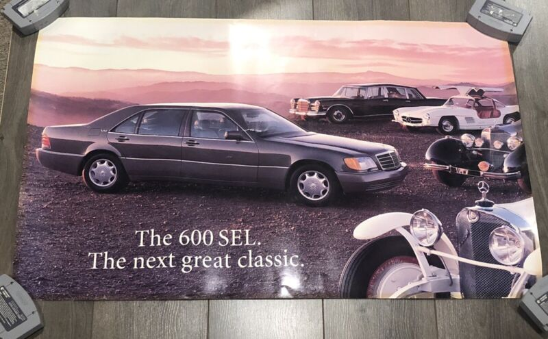"""1993 Mercedes Benz 600 SEL 'The Next Great Classic' Poster 24"""" x 36"""""""