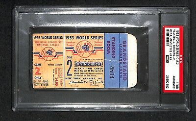 1953 WORLD SERIES GAME 2 TICKET NY YANKEES MICKEY MANTLE WS HR HOME RUN #3 PSA (1953 World Series Game)