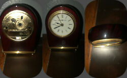 Howard and Miller Red Tabletop Clock(Tested)
