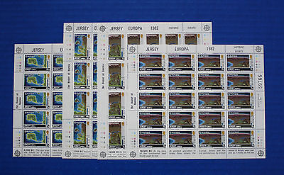 Jersey (#285-288) 1982 EUROPA MNH sheet set