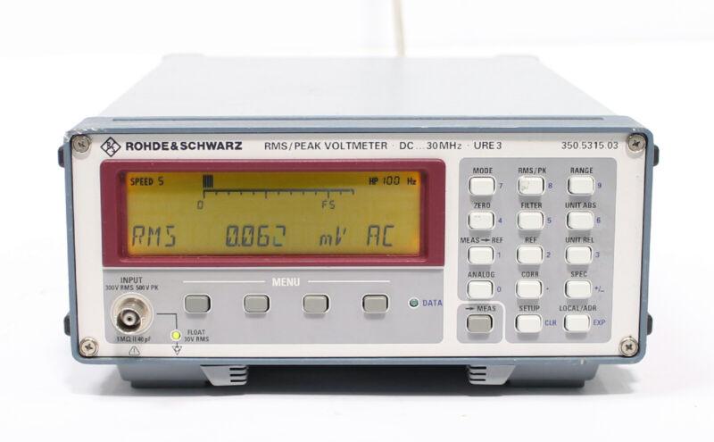 Rohde & Schwarz URE3 DC 30MHz RMS Peak Voltmeter 350.5315.03