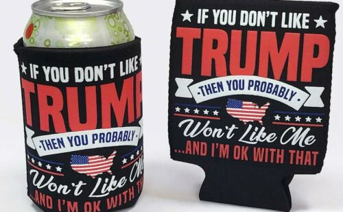 2 Donald TRUMP 2020 Fan Beer Can Cooler Coozie Koozie,  QTY 2