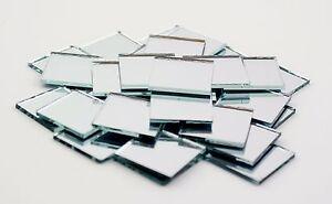 1 inch square glass tiles ebay for Miroir mural a coller