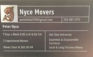 Reliable, Fast Friendly Experienced Nyce Movers Prince George British Columbia image 1