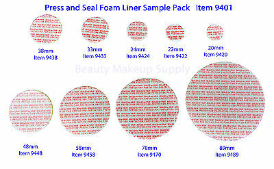 Press and Seal Foam Liners Tamper Leak Proof Container Sealer Assortment #9401