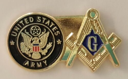Army Square & Compass lapel pin Military Mason