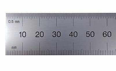 Pec Usa 300mm Rigid Satin Metric Machinist Rule Rule Scale .5mm Mm Both Sides