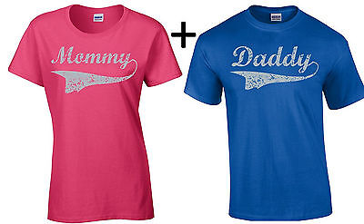 Mommy Daddy Couple T Shirt Valentines Day Gift For Her Him Mothers Day Gift Dad