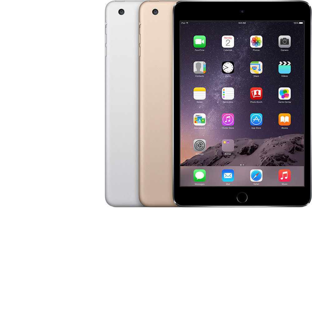 UNLOCKED iPad Mini 1 2 3 4 ✤WIFI+LTE✤ 16GB 32GB 64GB 128GB Black White Gold