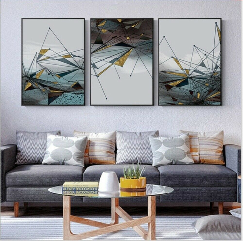 Details about Modern Geometric Wall Art Prints For Home Living Room Bedroom  - Minimalist Decor