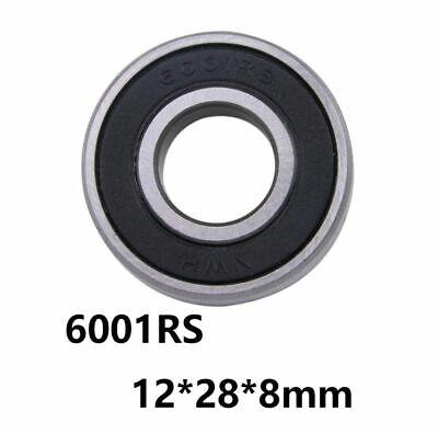 Chrome Steel Cover Seal Deep Groove Ball Miniature Mini Bearings 6001rs 10pcs