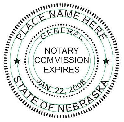 Notary - Nebraska Round Self-inking Notary Seal Rubber Stamp