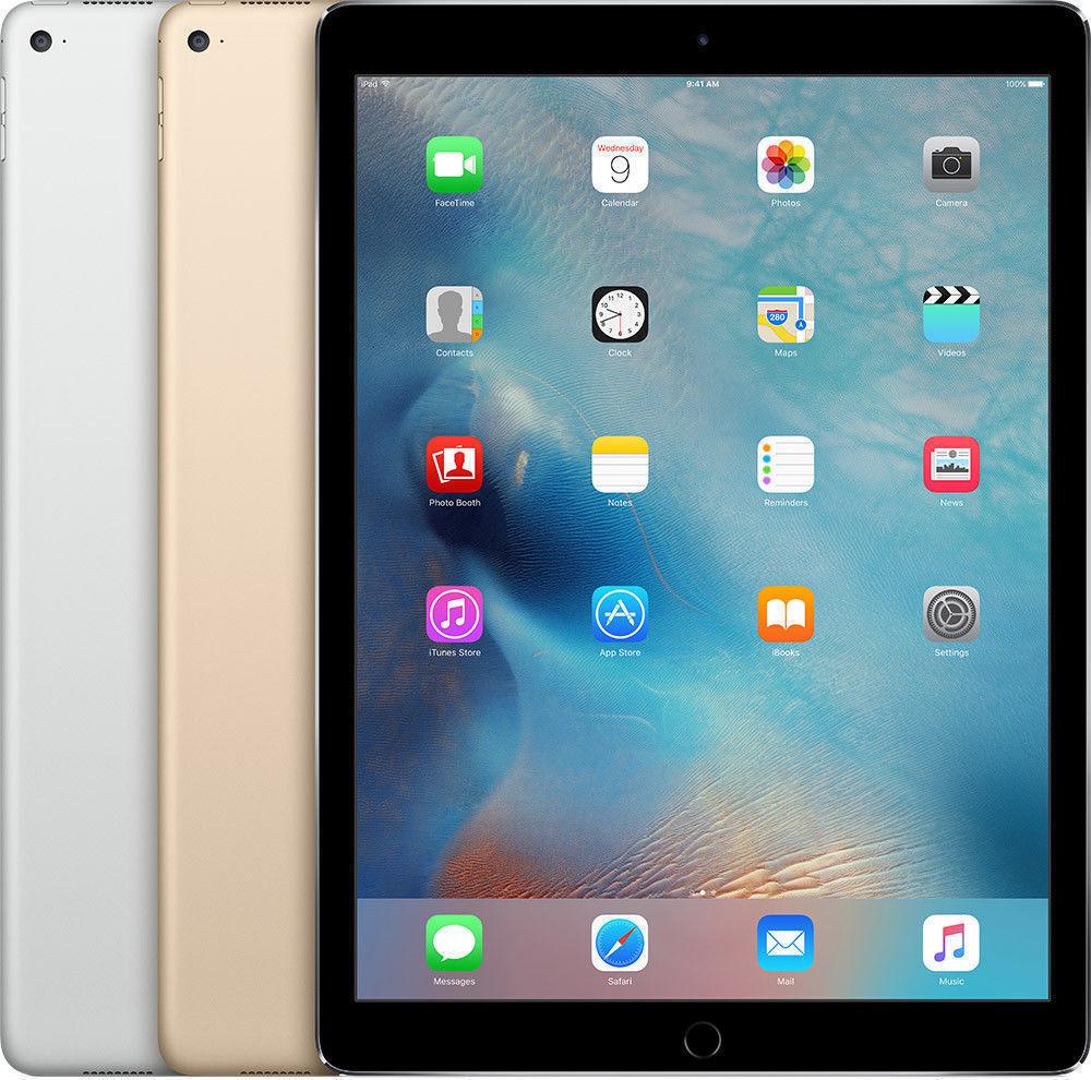 """Apple iPad Pro 12.9"""" 1st Gen (WI-FI + Cellular) - 128GB Silver - MWS"""