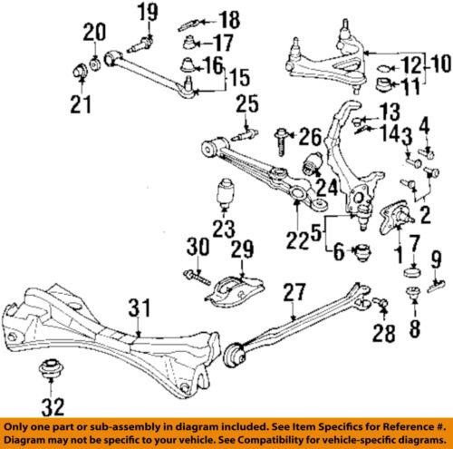 Honda Oem Rear Suspension Adjust Bolt 52387se0023 Ebay