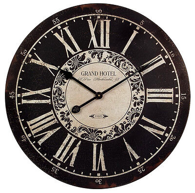 Imax large wall hotel clock analog watch home decor antique finish roman numeral