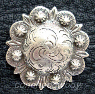 WESTERN SADDLE HORSE TACK ANTIQUE ENGRAVED BERRY CONCHOS screw back Multi size (Western Concho)