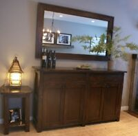 Salvaged Wood Buffet $1595 & Mirror $495. By LIKEN woodworks.