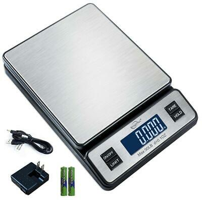 Weighmax W-2809 90 Lb X 0.1 Oz Durable Stainless Steel Digital Postal Scale...