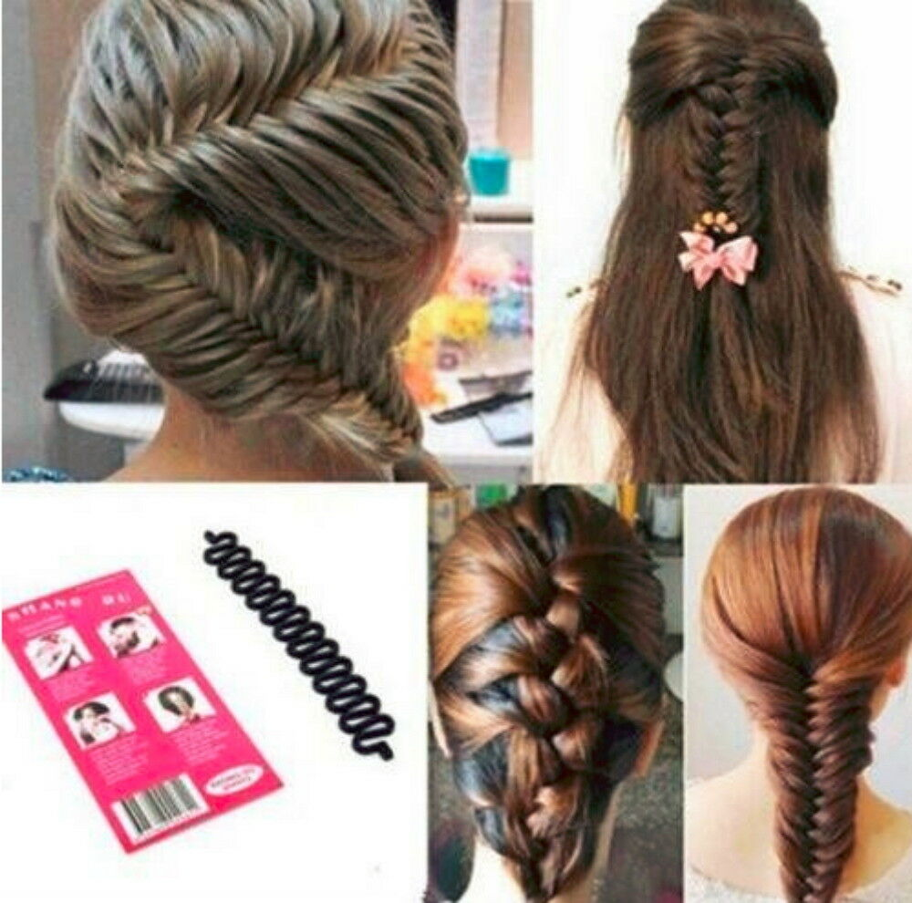 New Women Fashion Accessories Hair Styling Clip Stick Bun Maker Braid Tool Hair Clothing, Shoes & Accessories