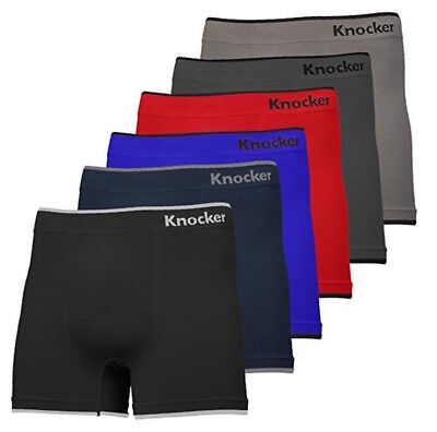 6 Mens Microfiber #2 Seamless Boxer Briefs Compression Lots One Size #MS02