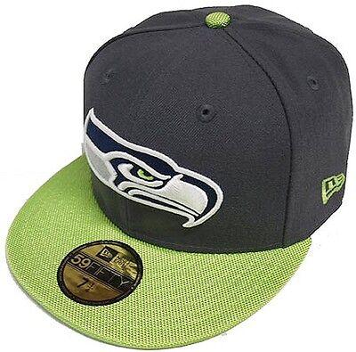 New Era NFL Seattle Seahawks Ballistic VIsor Cap 59fifty Fitted Basecap 5950 Men