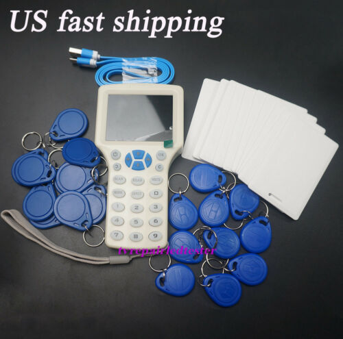 Hot English 10 Frequency NFC Smart IC ID Card RFID Copier Reader Duplicator
