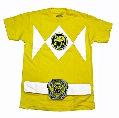 Power Rangers Gelb Ranger Kostüm Lizenziert Erwachsenen T-Shirt