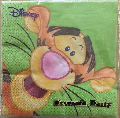 Servietten Disney Tigger Kindergeburtstag Party 20 Stück NEU und OVP Geburtstag