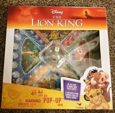 New Disney The Lion King Pop Up Game by Cardinal