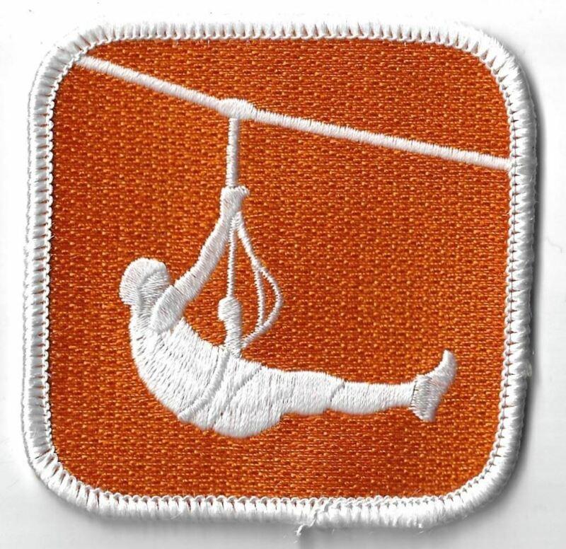 Summit Bechtel Scout Reservation Icon Patch Zipline WHT Bdr. [WM-547]
