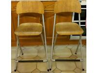 Two Ikea breakfast stools