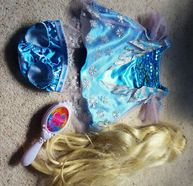 Build-a-Bear Disney Frozen Dress Outfit and Wig
