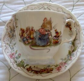 Royal Albert Cup and Saucer 'THE BIRTHDAY' .