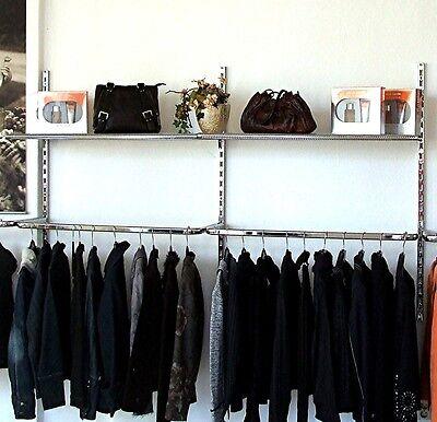 Wandsystem 200 cm Rückwand Textilregal Ladeneinrichtung Verkaufswand
