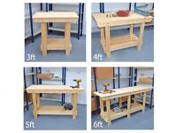 Wooden Workbenches / Strong and Sturdy / Various Size Options / Making Bespoke Sizes daily