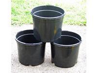 "NEW 2Lt 17cm 6.8"" Black Plant Pots - With 2 tier drainage levels - £1.00 for 3"