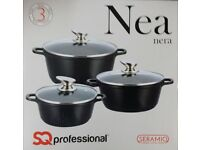 3PC NON STICK PAN SET SIZE 18CM TO 26CM